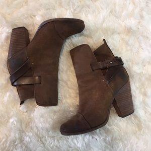 Rag & Bone Kinsey Brown Booties Size 7.5